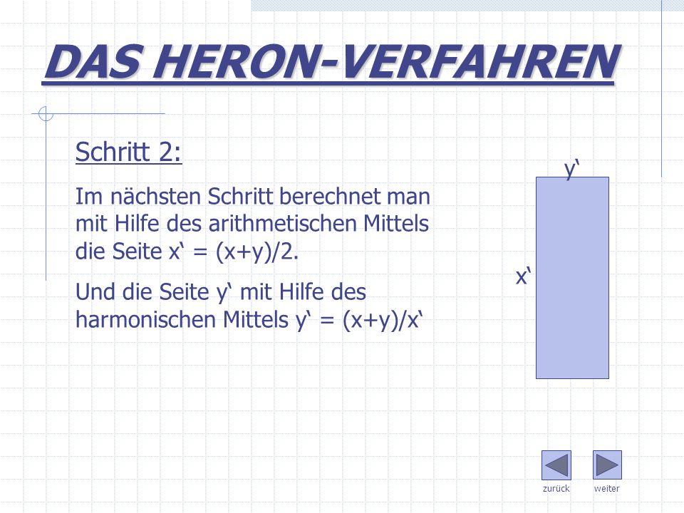 DAS HERON-VERFAHREN Schritt 2: y'