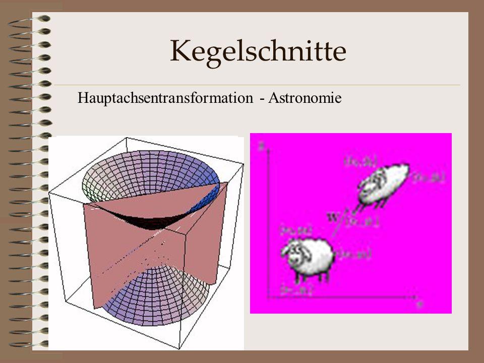 Kegelschnitte Hauptachsentransformation - Astronomie