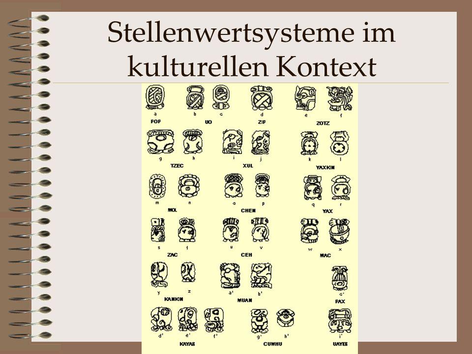 Stellenwertsysteme im kulturellen Kontext