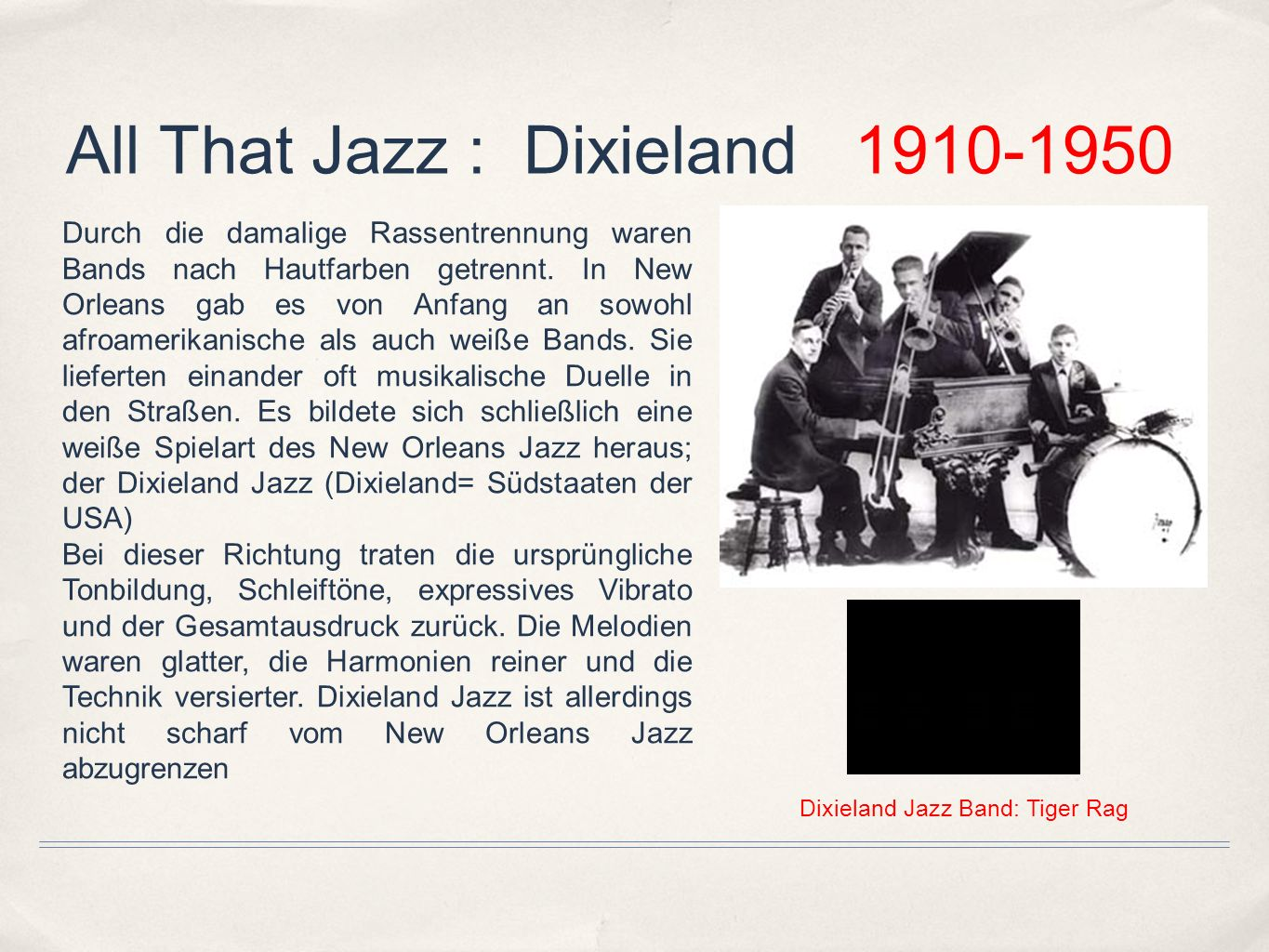 All That Jazz : Dixieland
