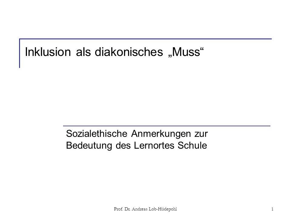 "Inklusion als diakonisches ""Muss"