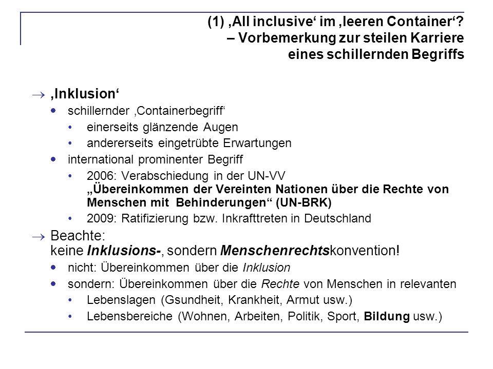 Beachte: keine Inklusions-, sondern Menschenrechtskonvention!
