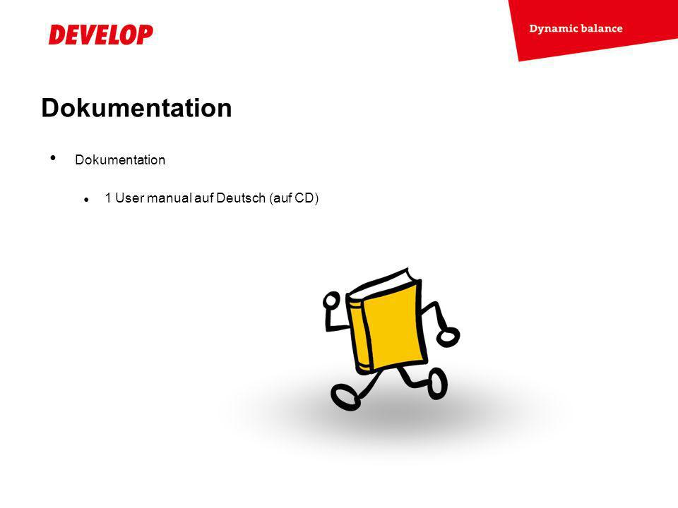 Dokumentation Dokumentation 1 User manual auf Deutsch (auf CD)