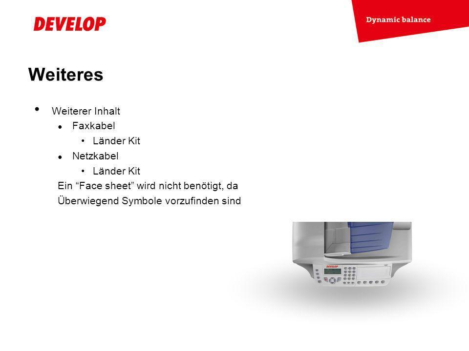Weiteres Weiterer Inhalt Faxkabel Länder Kit Netzkabel