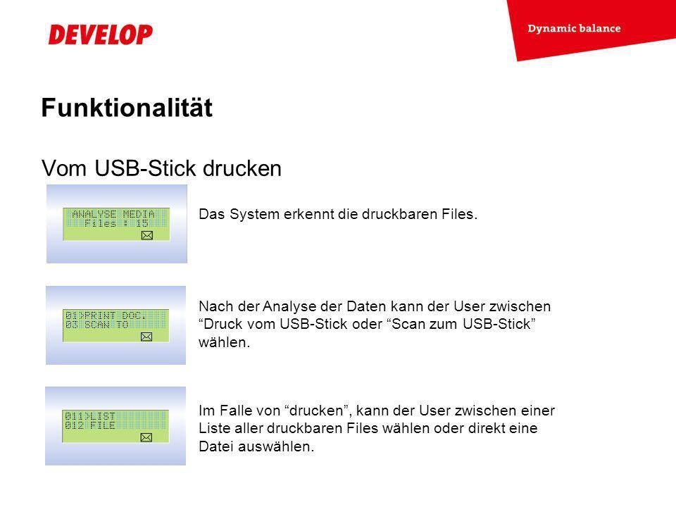Funktionalität Vom USB-Stick drucken
