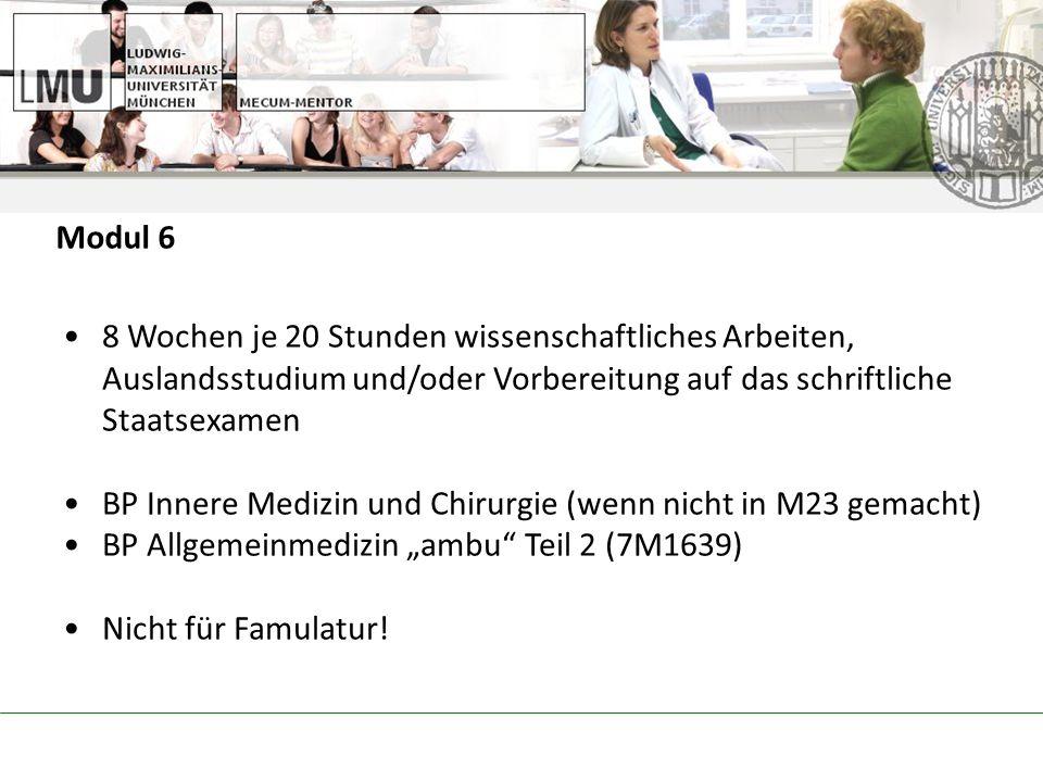 BP Innere Medizin und Chirurgie (wenn nicht in M23 gemacht)