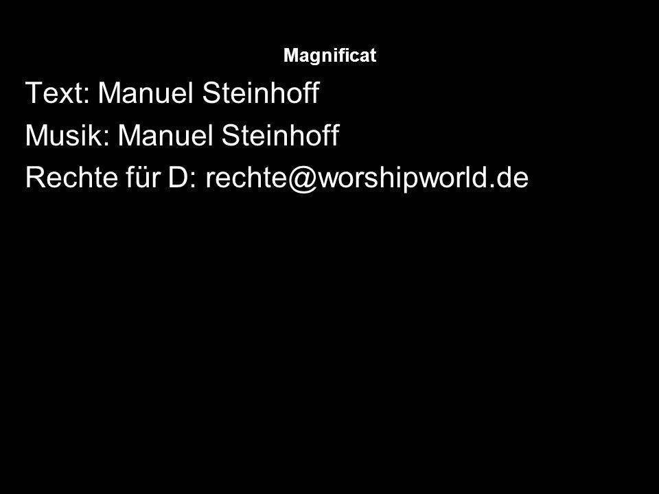 Text: Manuel Steinhoff Musik: Manuel Steinhoff