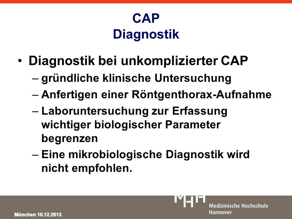 Diagnostik bei unkomplizierter CAP