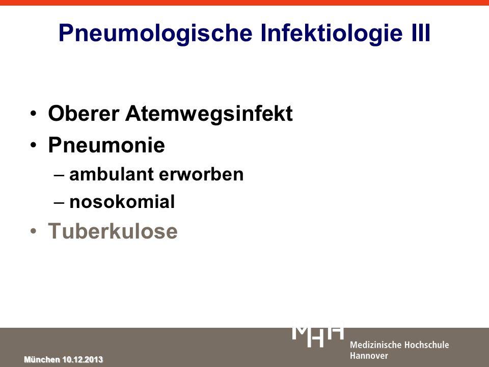 Pneumologische Infektiologie III
