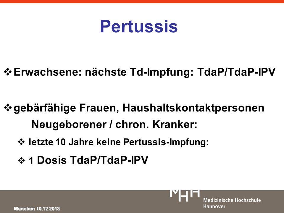 Pertussis Erwachsene: nächste Td-Impfung: TdaP/TdaP-IPV