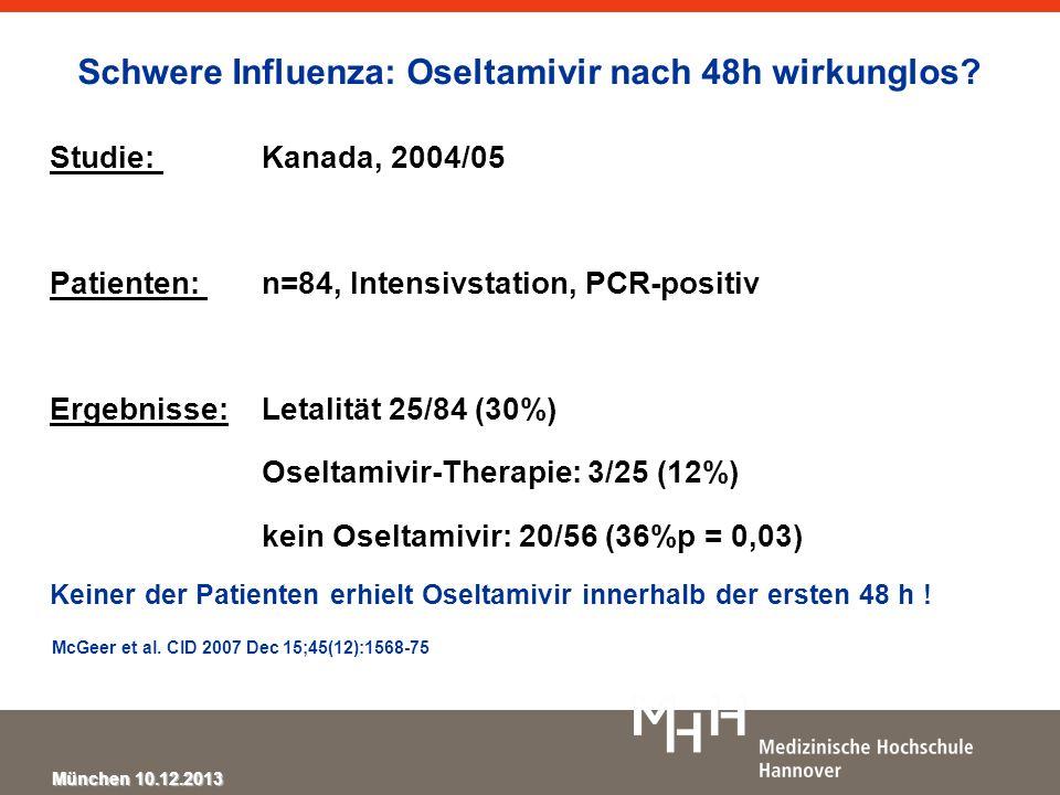 Schwere Influenza: Oseltamivir nach 48h wirkunglos