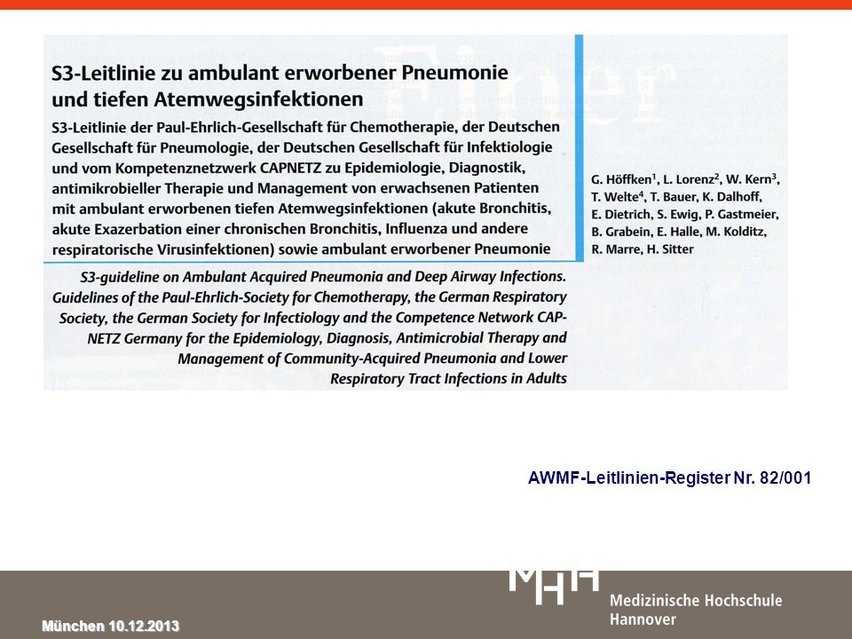 AWMF-Leitlinien-Register Nr. 82/001