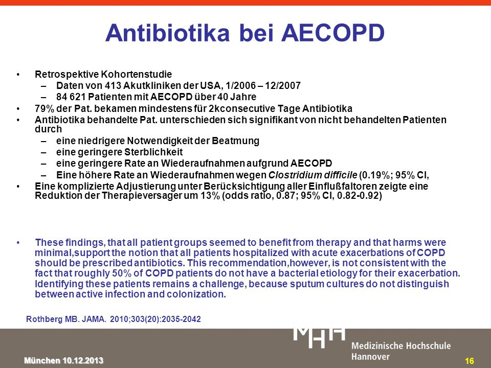 Antibiotika bei AECOPD