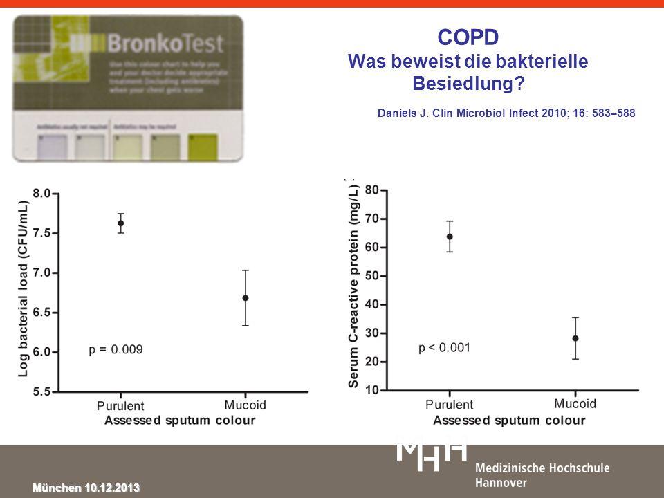 COPD Was beweist die bakterielle Besiedlung