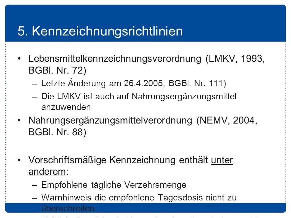 5. Kennzeichnungsrichtlinien