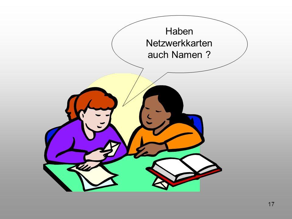 Haben Netzwerkkarten auch Namen