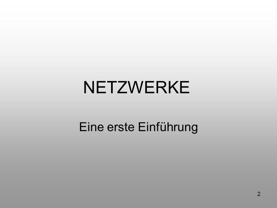 NETZWERKE Eine erste Einführung