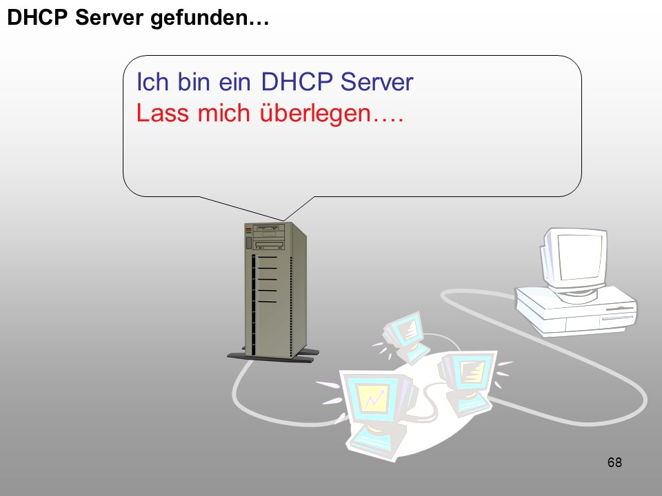 DHCP Server gefunden… Ich bin ein DHCP Server Lass mich überlegen….