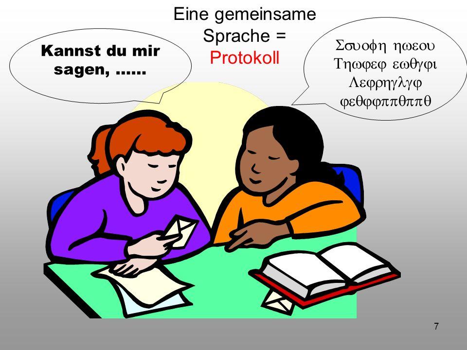 Eine gemeinsame Sprache = Protokoll