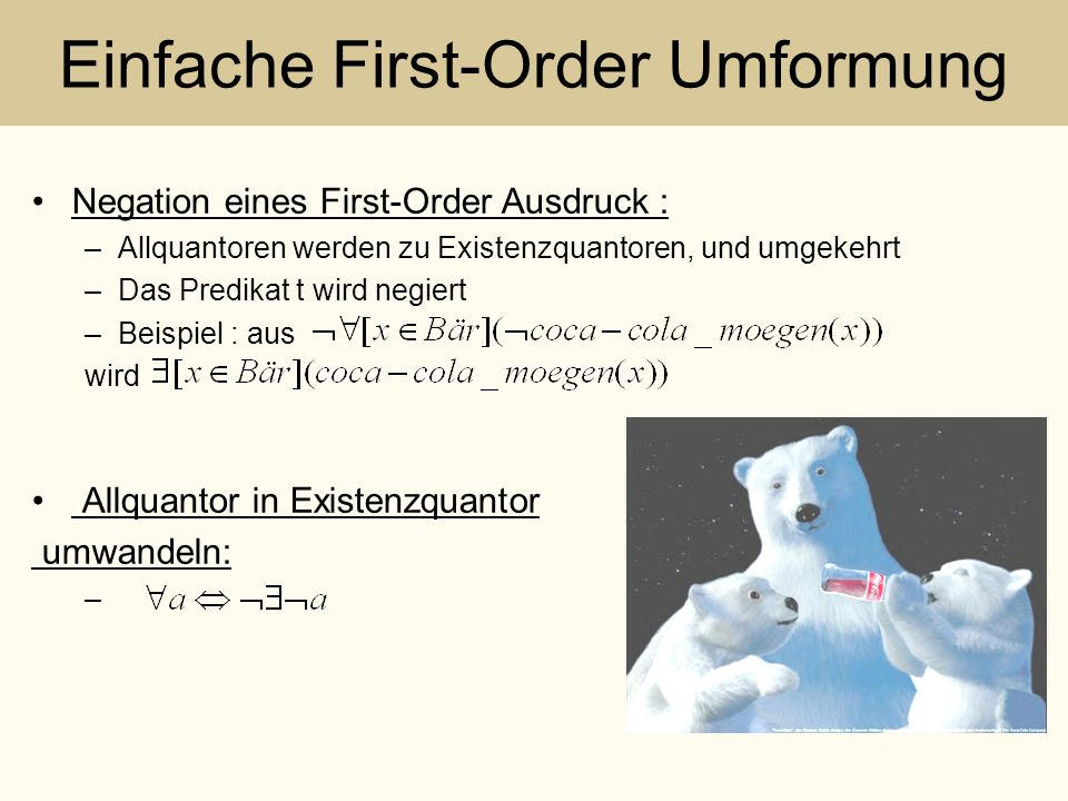 Einfache First-Order Umformung