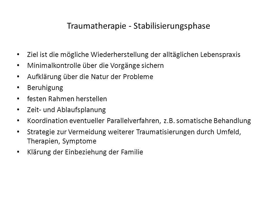 Traumatherapie - Stabilisierungsphase