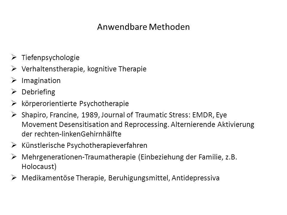 Anwendbare Methoden Tiefenpsychologie
