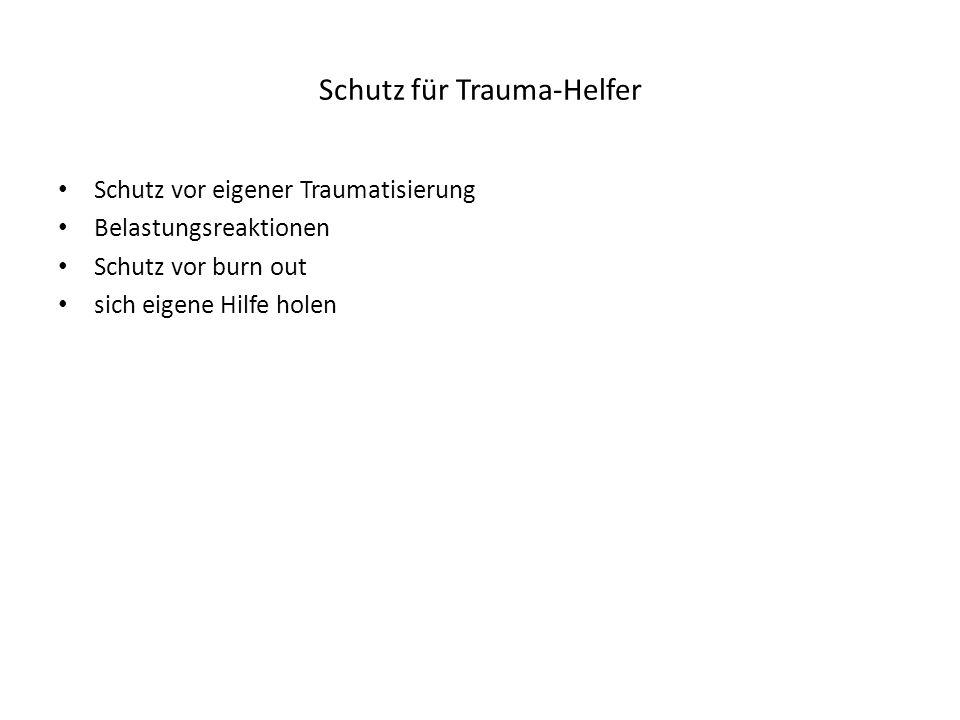 Schutz für Trauma-Helfer