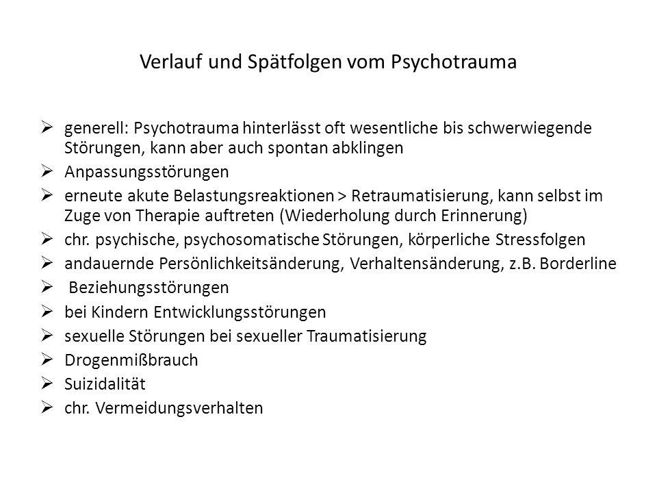 Verlauf und Spätfolgen vom Psychotrauma
