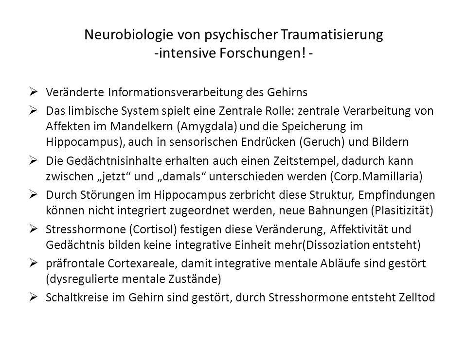 Neurobiologie von psychischer Traumatisierung -intensive Forschungen! -