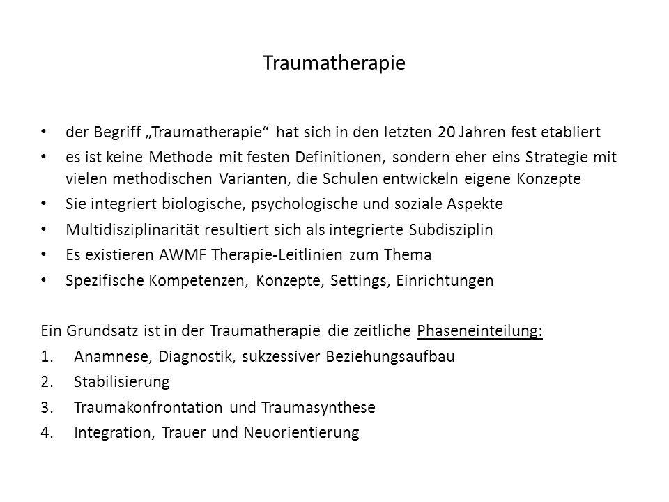 """Traumatherapie der Begriff """"Traumatherapie hat sich in den letzten 20 Jahren fest etabliert."""