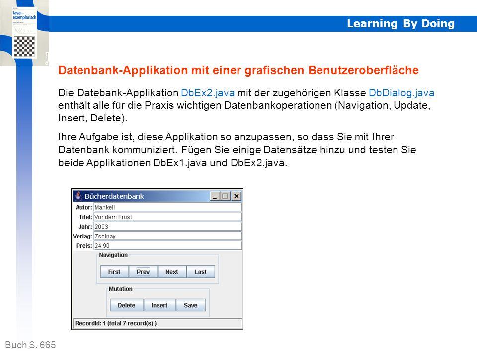 Datenbank-Applikation mit einer grafischen Benutzeroberfläche