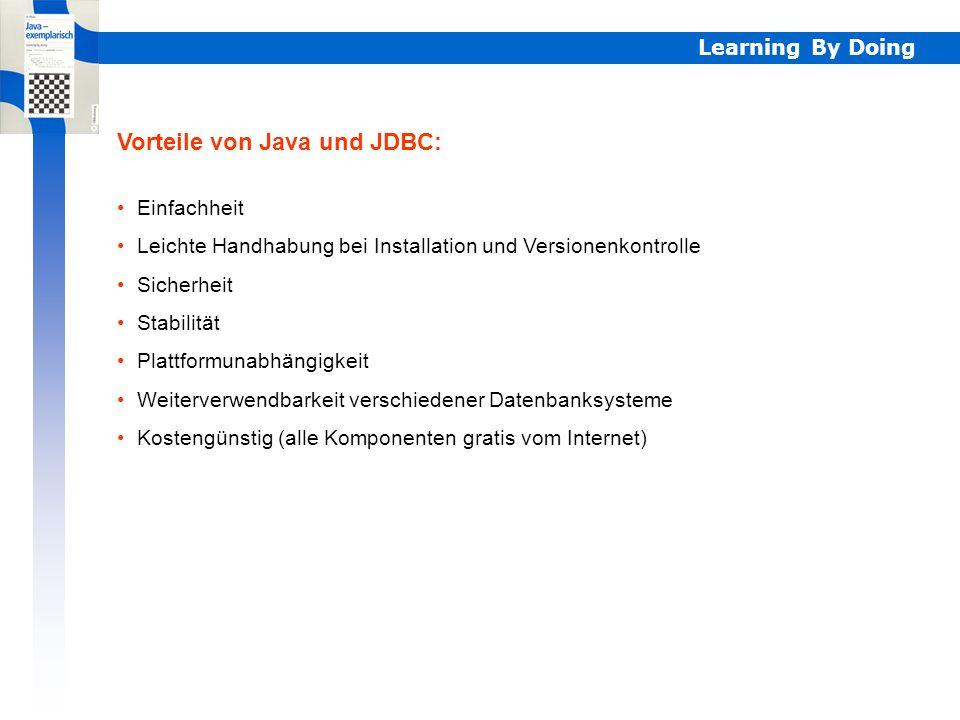 Vorteile von Java und JDBC: