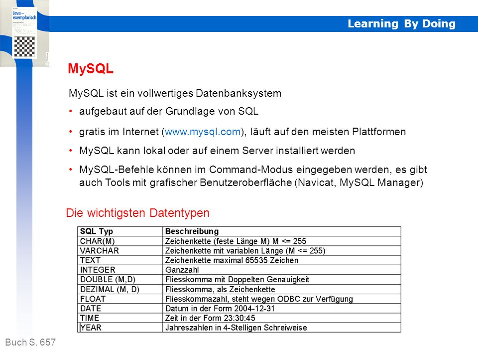 MySQL Die wichtigsten Datentypen Learning By Doing