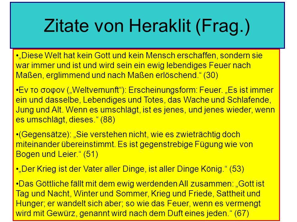 Zitate von Heraklit (Frag.)