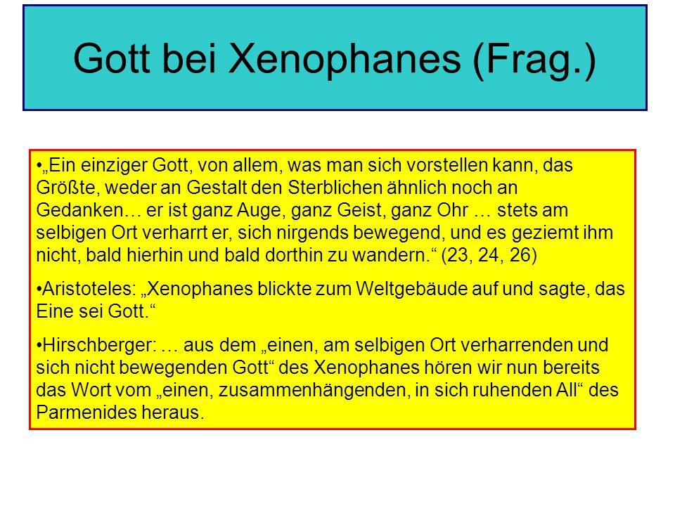 Gott bei Xenophanes (Frag.)