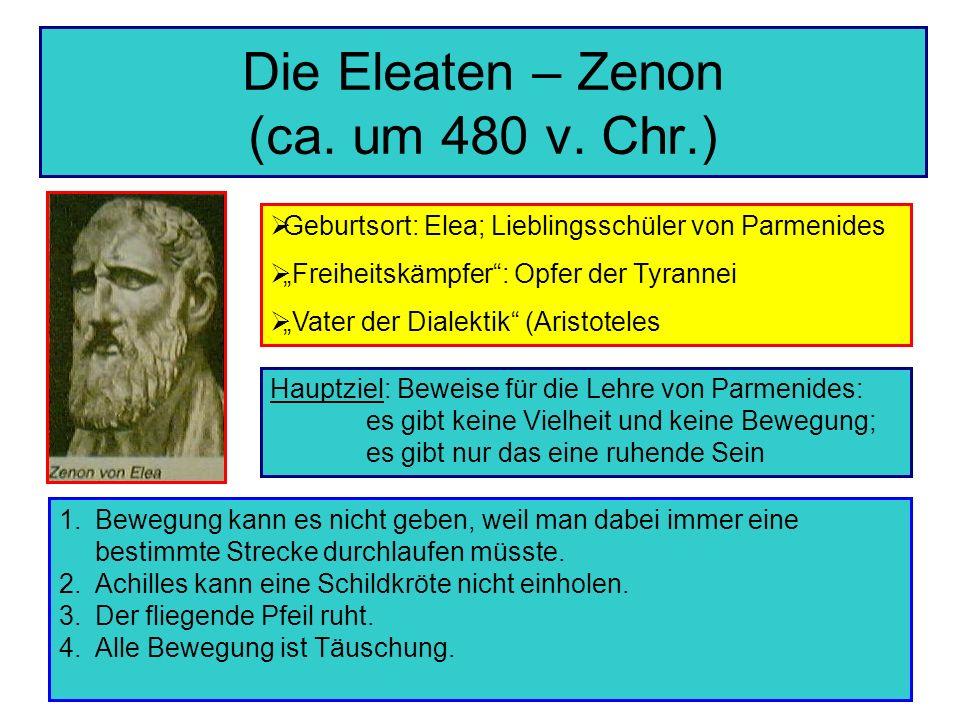 Die Eleaten – Zenon (ca. um 480 v. Chr.)