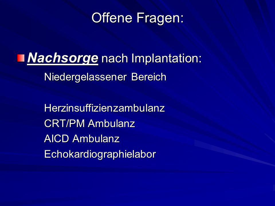 Nachsorge nach Implantation: