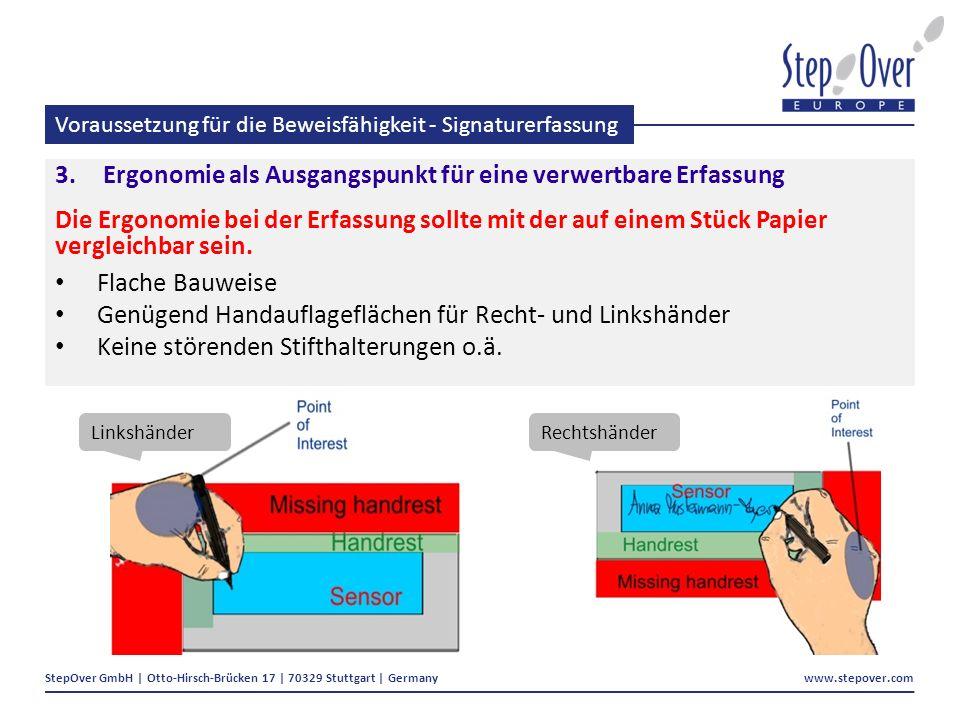 Voraussetzung für die Beweisfähigkeit - Signaturerfassung