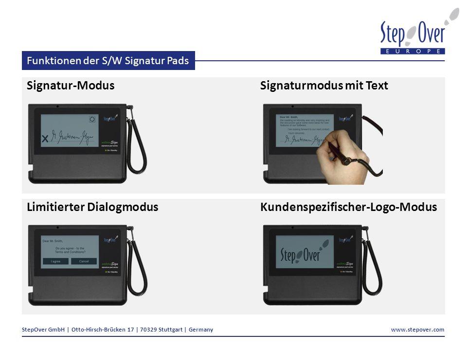 Funktionen der S/W Signatur Pads