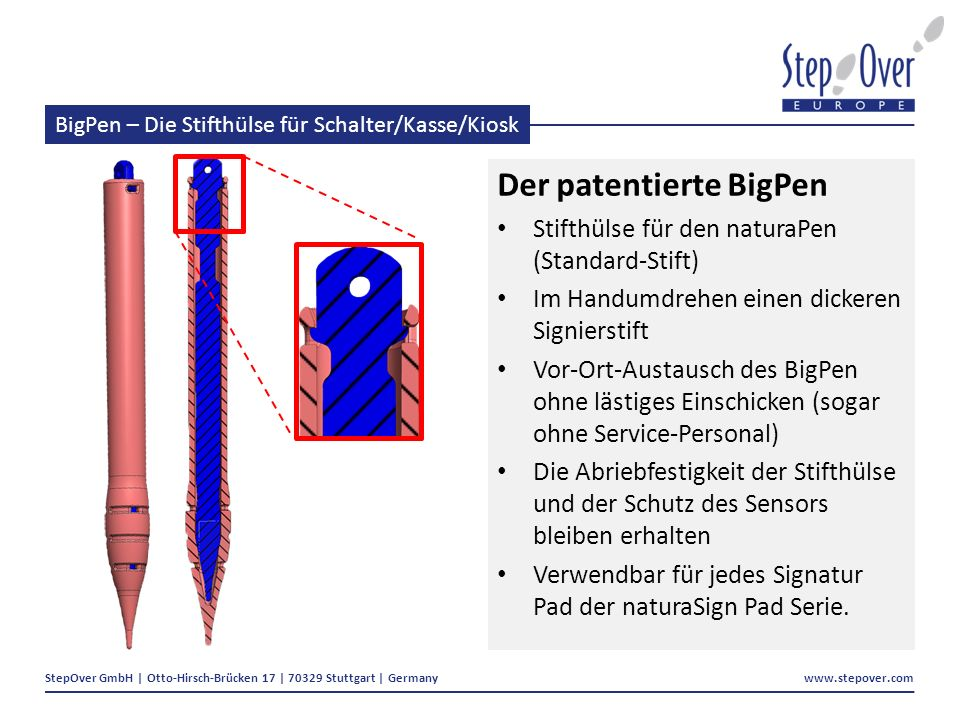 BigPen – Die Stifthülse für Schalter/Kasse/Kiosk