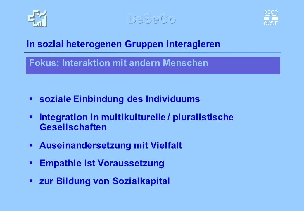 in sozial heterogenen Gruppen interagieren