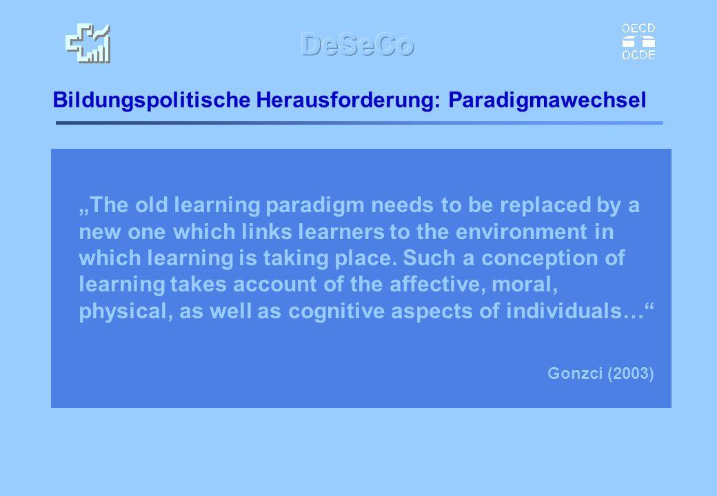Bildungspolitische Herausforderung: Paradigmawechsel
