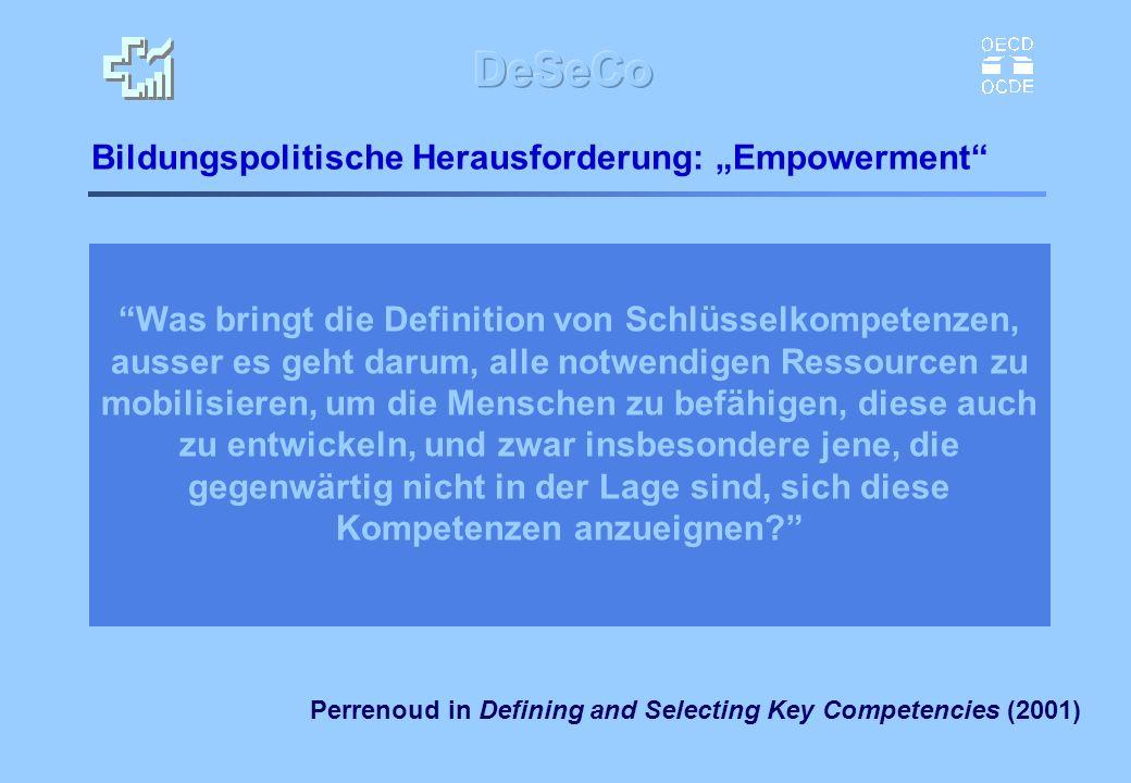 """Bildungspolitische Herausforderung: """"Empowerment"""