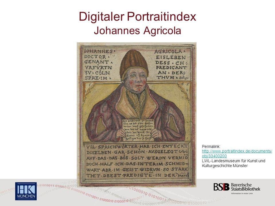 Digitaler Portraitindex Johannes Agricola