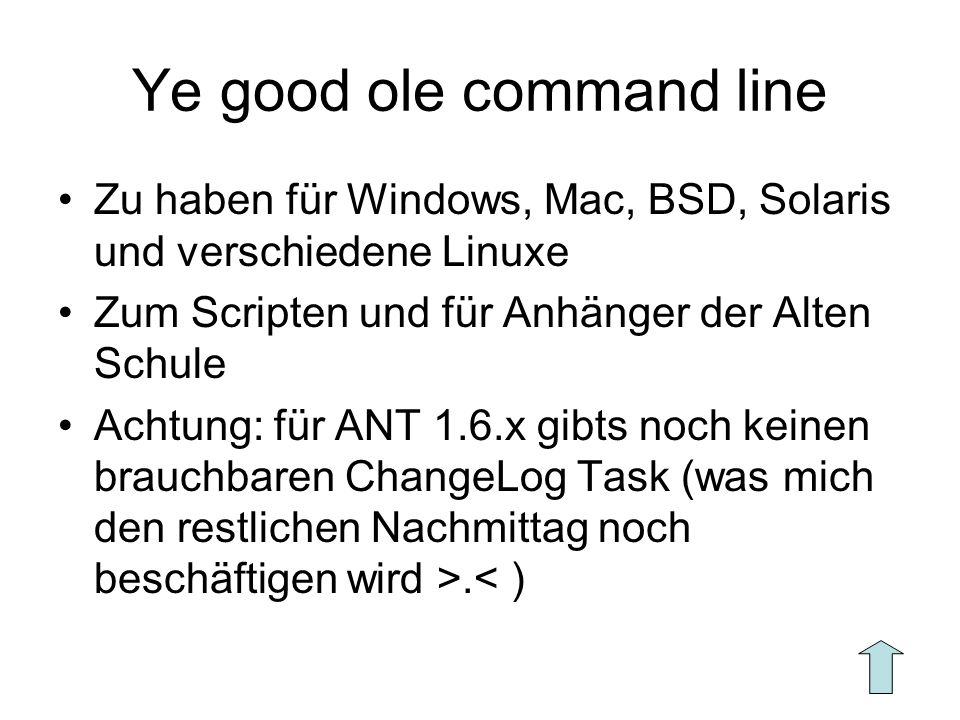 Ye good ole command line