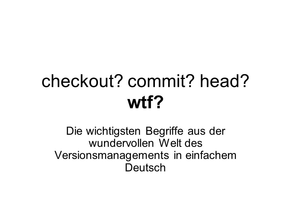 checkout commit head wtf