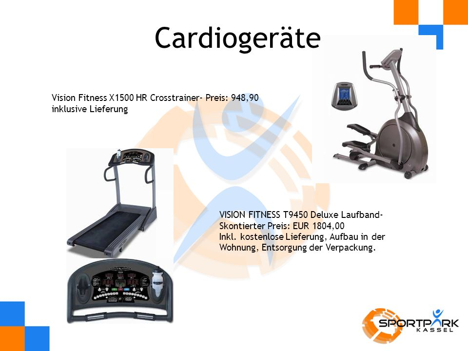 Cardiogeräte Vision Fitness X1500 HR Crosstrainer- Preis: 948,90 inklusive Lieferung.