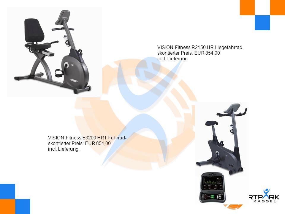 VISION Fitness R2150 HR Liegefahrrad- skontierter Preis: EUR 854,00 incl. Lieferung