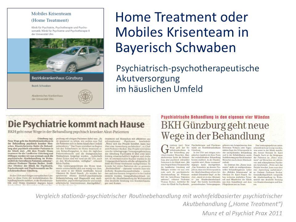Home Treatment oder Mobiles Krisenteam in Bayerisch Schwaben