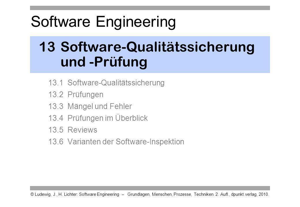 13 Software-Qualitätssicherung und -Prüfung